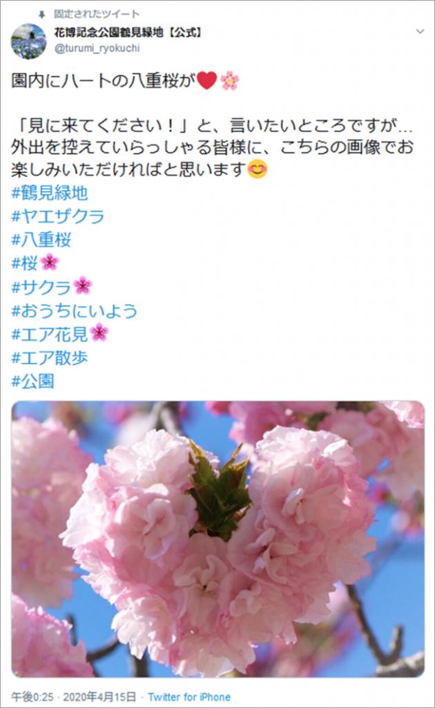 Twitterイメージ:花博記念公園鶴見緑地、公式Twitterより