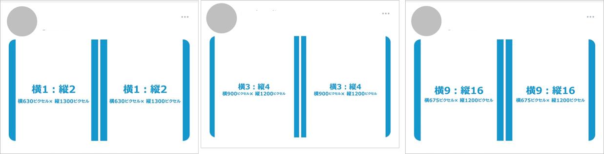 イメージ画像:縦長画像の2枚投稿アプリ表示結果