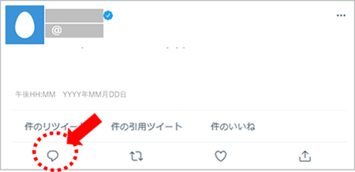 ツイッターのツイートイメージ