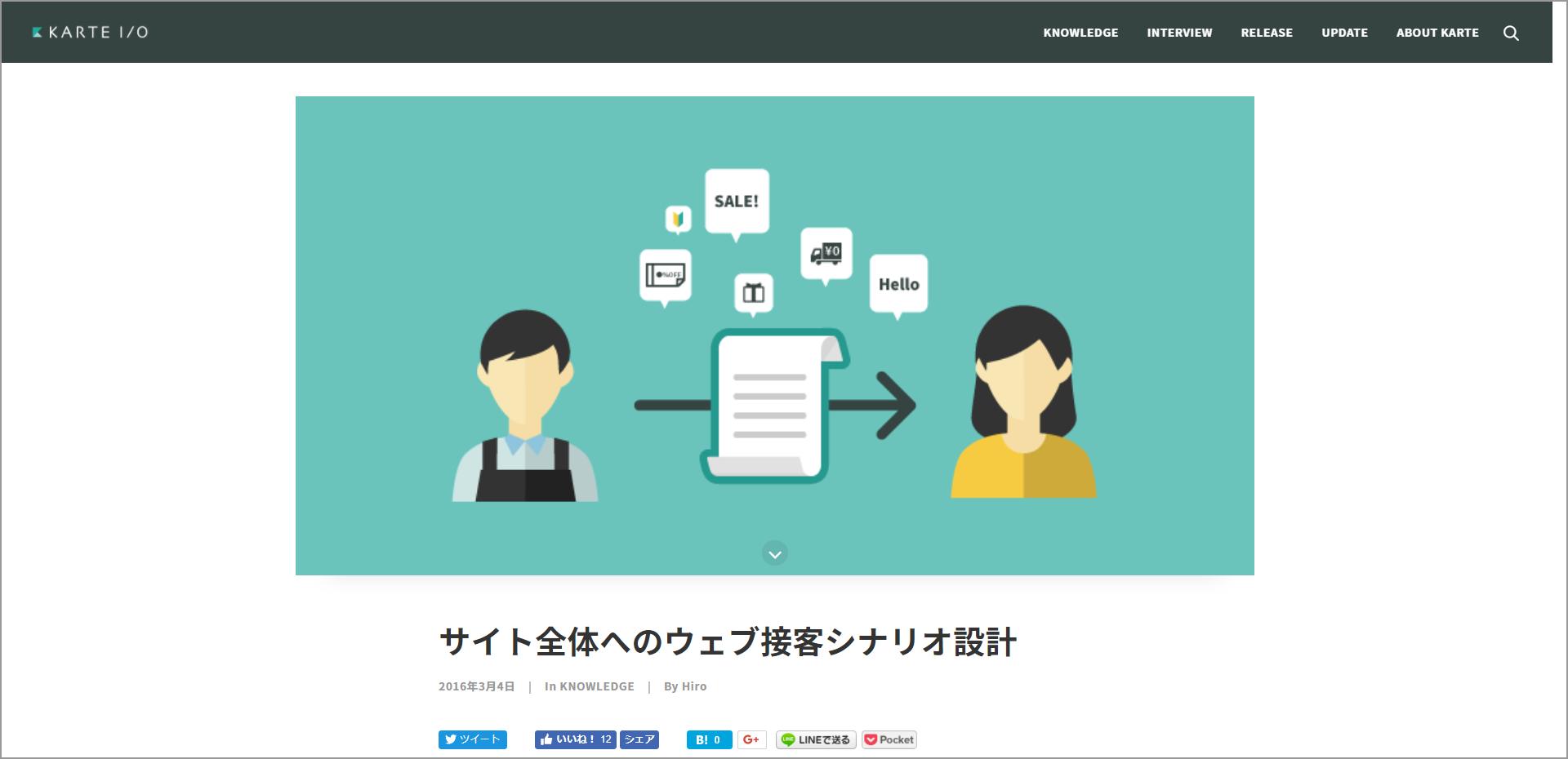 参考サイト:KARTE「サイト全体のウェブ接客シナリオ設計」Webページ画像