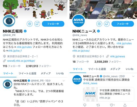 参考事例:NHKアカウント画像